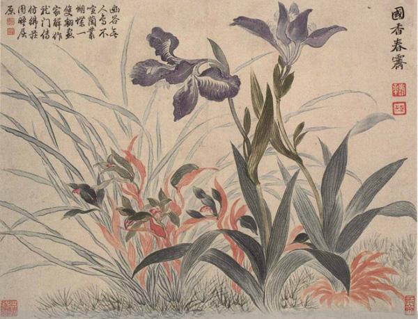 历代名家画兰花欣赏之一图片
